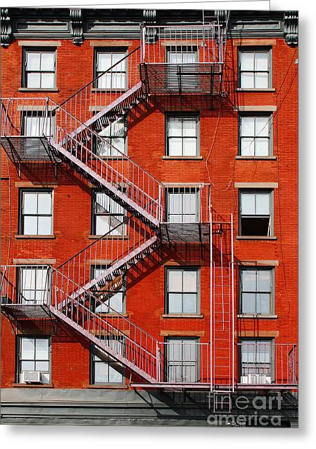 Fenster Photographs Greeting Cards - New York City Fire Escape Greeting Card by Meleah Fotografie
