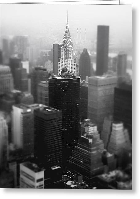 New York City - Fog And The Chrysler Building Greeting Card by Vivienne Gucwa