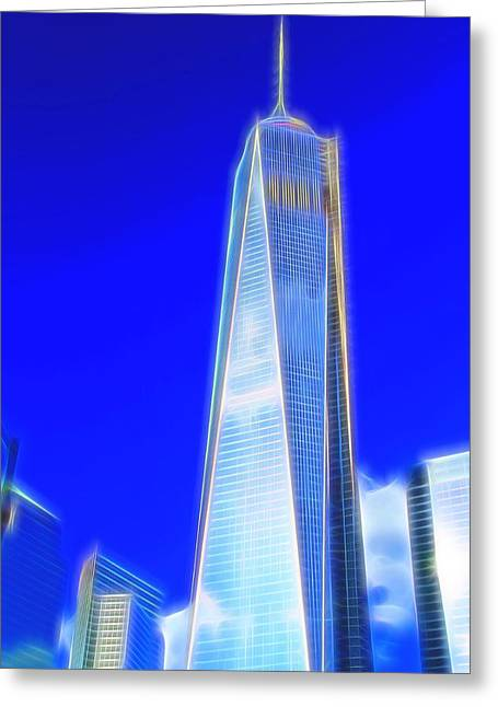 New York City Freedom Tower Greeting Card by Dan Sproul