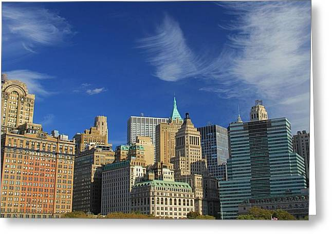 New York Vista Greeting Cards - New York City From Central Park Greeting Card by Dan Sproul