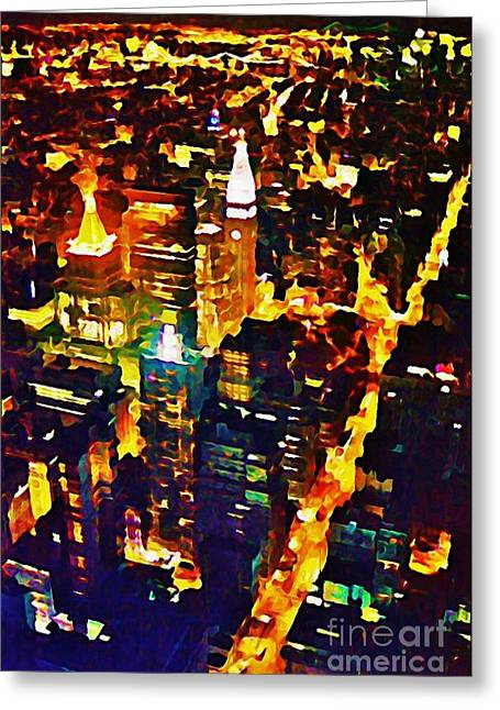 John Malone Artist Greeting Cards - New York City From the Empire State Building Greeting Card by John Malone JSM Fine Arts