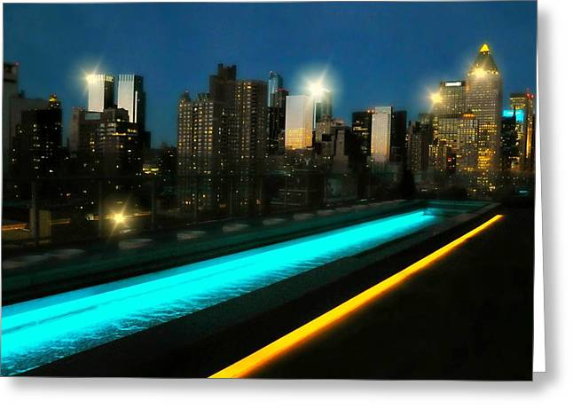 Midtown West Greeting Cards - New York City Girl Greeting Card by Diana Angstadt