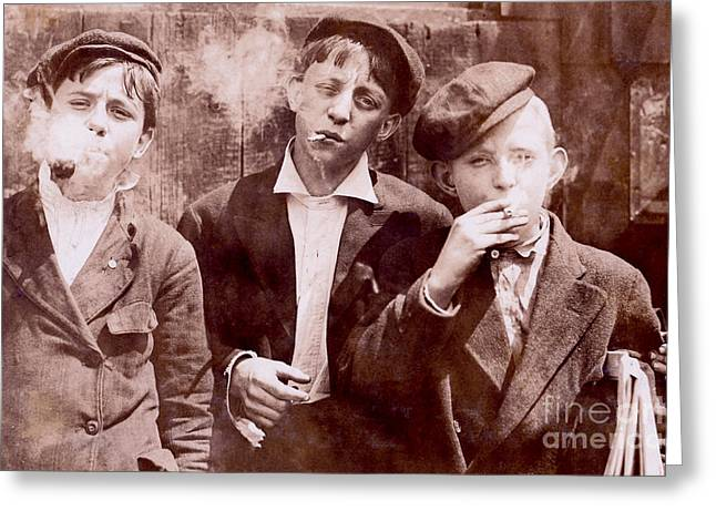 Twenties Greeting Cards - New York City Kids Greeting Card by Jon Neidert