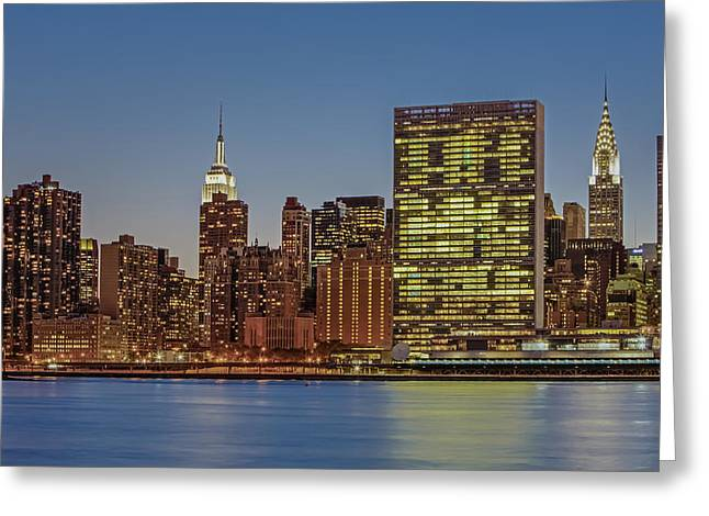 Cityscapes Greeting Cards - New York City Landmarks Greeting Card by Susan Candelario
