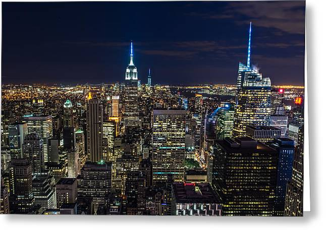 New York City Greeting Card by Larry Marshall