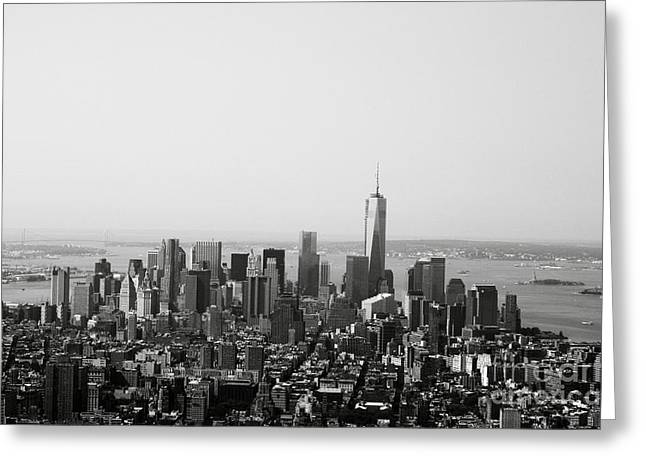 Liberty Greeting Cards - New York City Greeting Card by Linda Woods