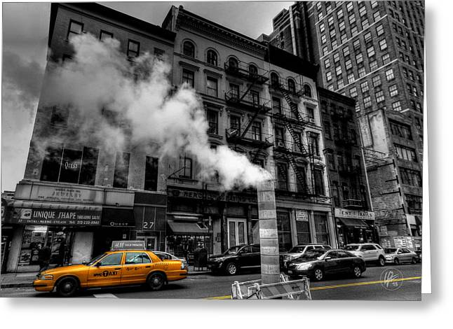 New York City - Lower Manhattan 006 Greeting Card by Lance Vaughn