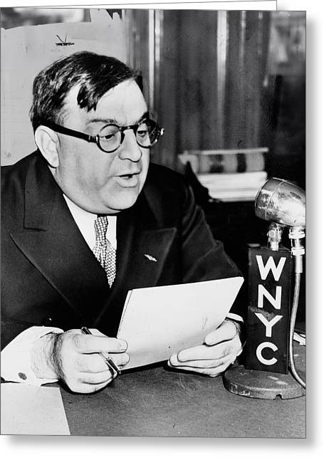 Famous Person Greeting Cards - New York City Mayor Florello La Guardia  in 1940 Greeting Card by Mountain Dreams