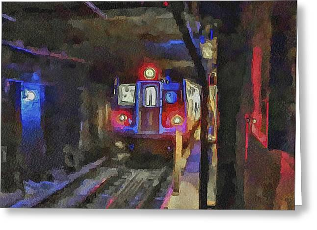 Live Art Greeting Cards - New York City Metro 2 Greeting Card by Yury Malkov