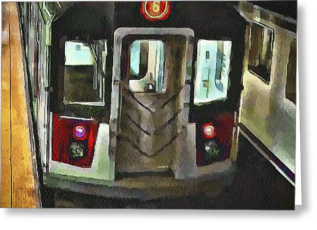 Live Art Greeting Cards - New York City Metro Greeting Card by Yury Malkov