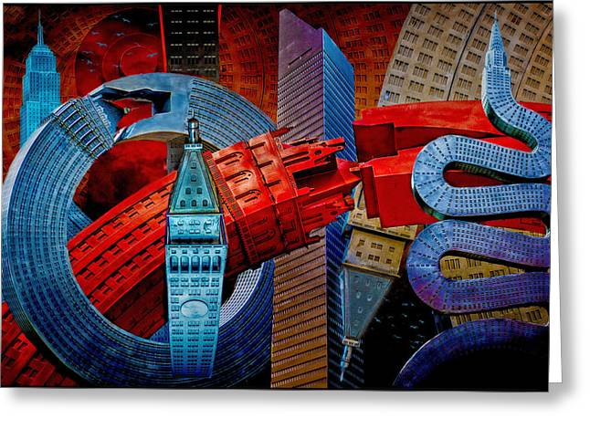 Sculptures Digital Art Greeting Cards - New York City Park Avenue Sculptures Reimagined Greeting Card by Chris Lord