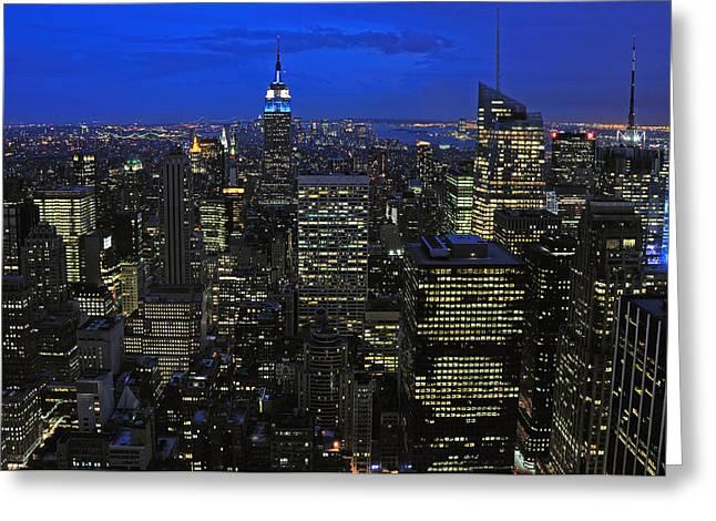 Paul Van Baardwijk Greeting Cards - New York City Greeting Card by Paul Van Baardwijk