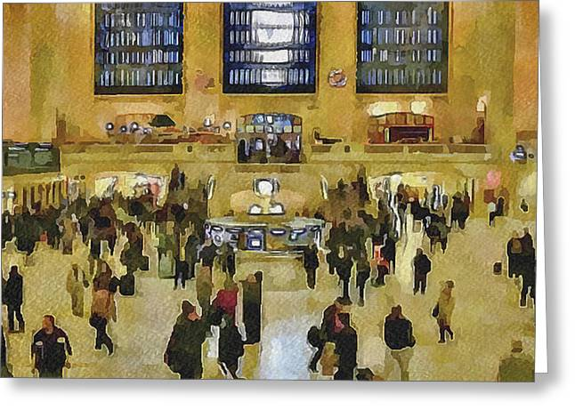 Live Art Greeting Cards - New York City Pen Station Greeting Card by Yury Malkov