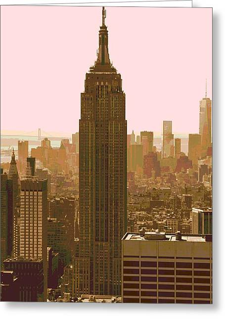 New Mind Greeting Cards - New York City Poster Greeting Card by Dan Sproul