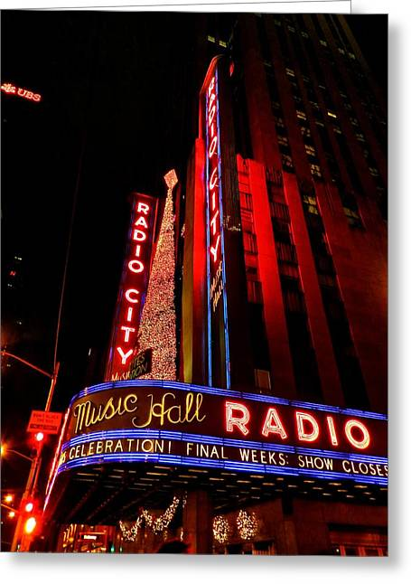 Iconic Radio Greeting Cards - New York City - Radio City Music Hall 001 Greeting Card by Lance Vaughn