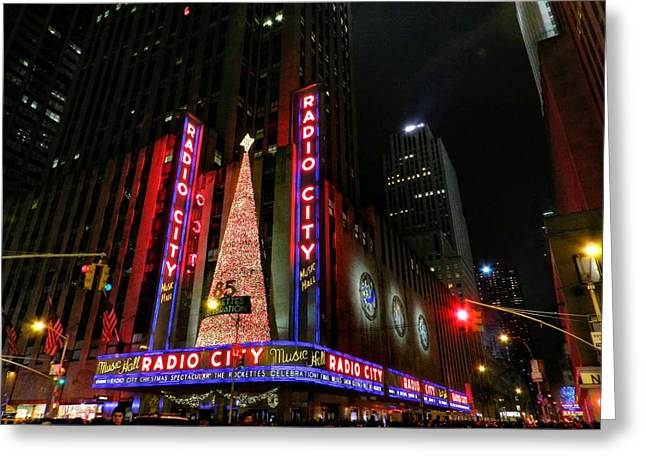 Iconic Radio Greeting Cards - New York City - Radio City Music Hall 002 Greeting Card by Lance Vaughn