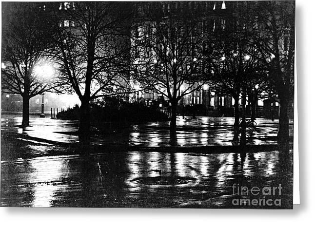 New York City Reflections 1897 Greeting Card by Padre Art