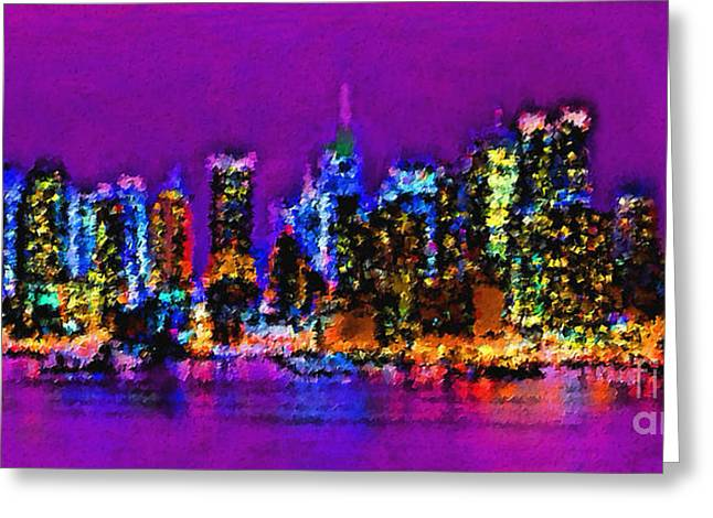 Abstract Movement Greeting Cards - New York City Greeting Card by Sergio B