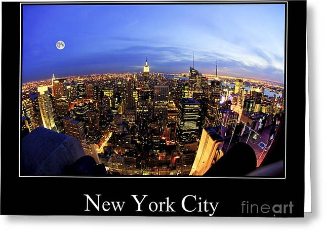 Nyc Posters Photographs Greeting Cards - New York City Skyline Greeting Card by Anthony Sacco