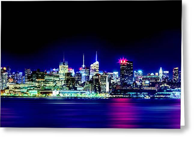 City Of New York Greeting Cards - New York City Skyline Greeting Card by Az Jackson