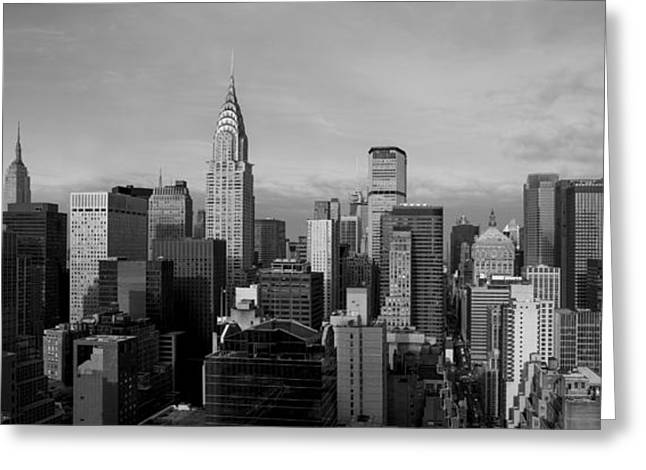 New York City Skyline Greeting Card by Diane Diederich