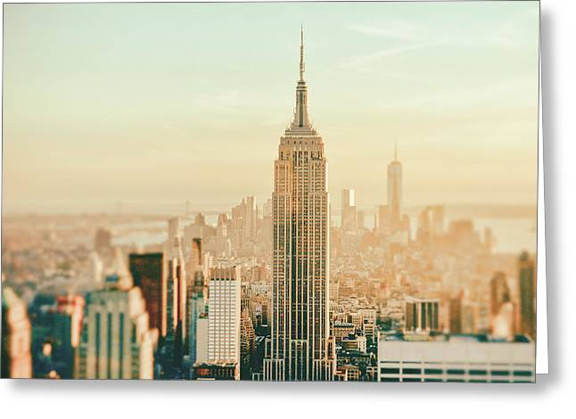 Nyc Rooftop Greeting Cards - New York City - Skyline Dream Greeting Card by Vivienne Gucwa