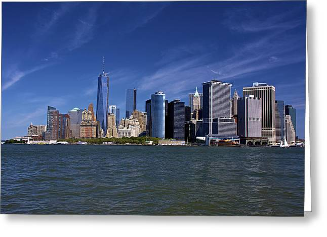 William Clinton Greeting Cards - New York City Skyline Greeting Card by Kathi Isserman