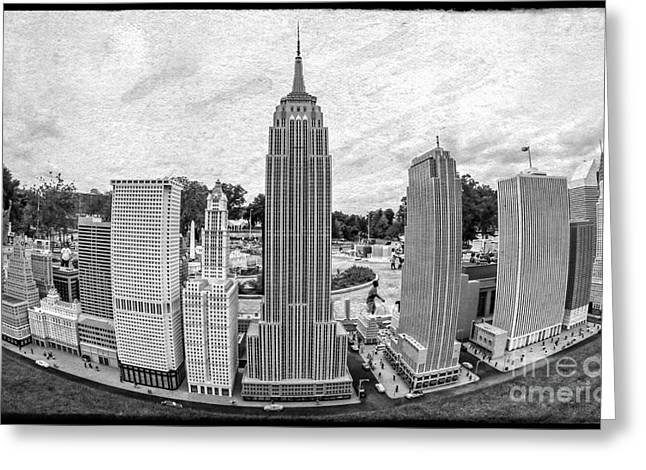 New York City Skyline - Lego Greeting Card by Edward Fielding