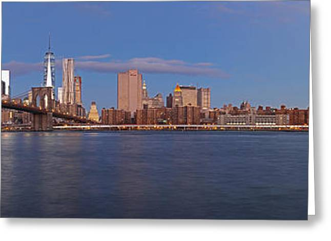 Gotham City Greeting Cards - New York City Skyline Panorama Greeting Card by Juergen Roth