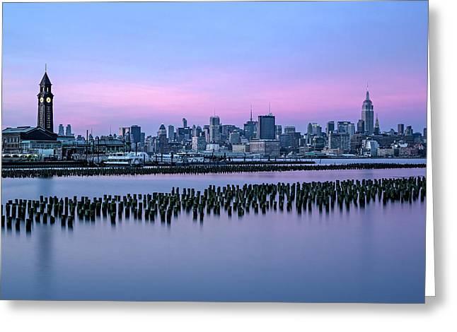 New York City Skyline Stillness Greeting Card by Susan Candelario