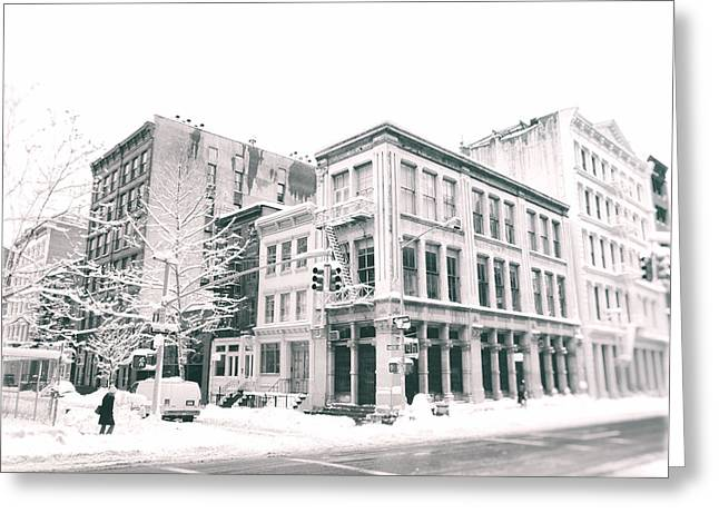 Winterscape Greeting Cards - New York City - Snow in Soho Greeting Card by Vivienne Gucwa