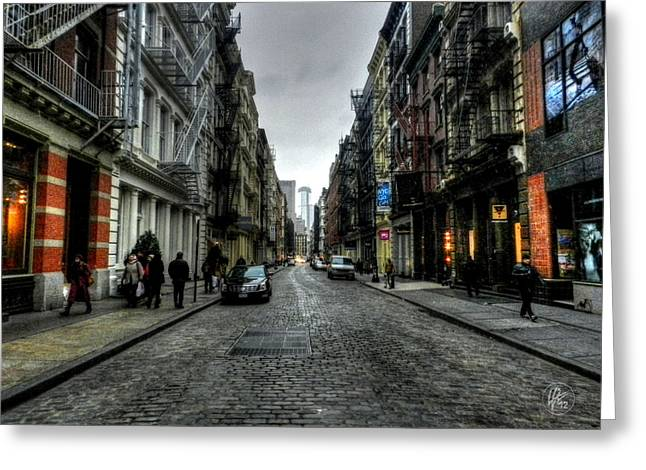 Historic District Greeting Cards - New York City - SoHo 003 Greeting Card by Lance Vaughn