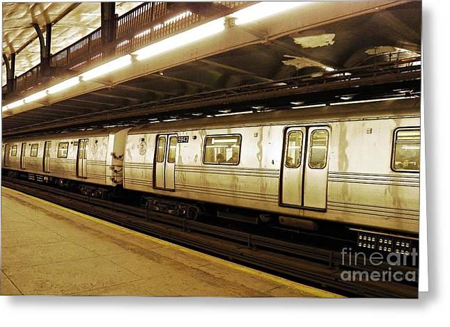 New York City Subway 2 Greeting Card by Sarah Loft