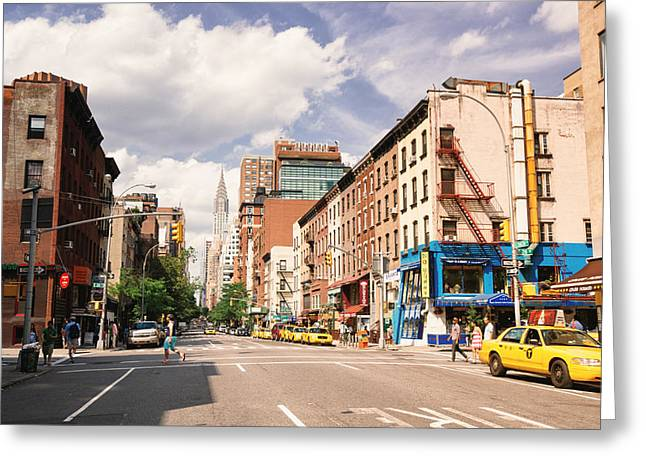 Midtown Greeting Cards - New York City - Summer Afternoon Greeting Card by Vivienne Gucwa