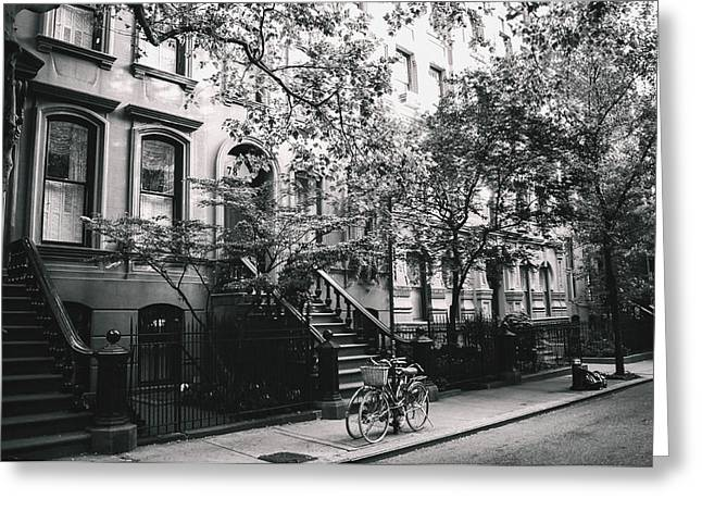 New York City - Summer - West Village Street Greeting Card by Vivienne Gucwa