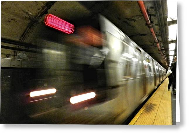 New York City - The Subway 003 Greeting Card by Lance Vaughn