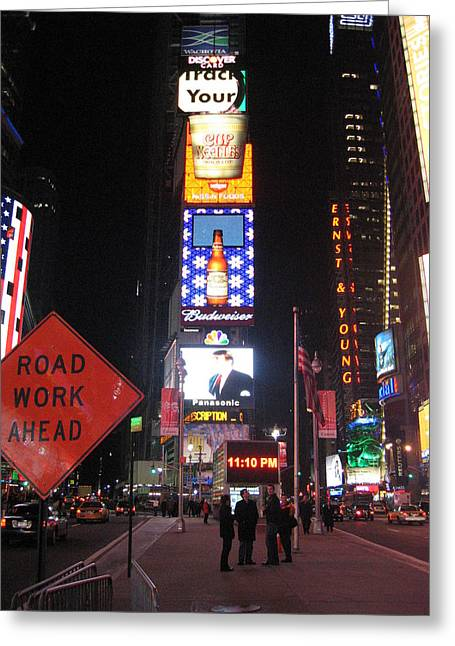 Time Greeting Cards - New York City - Times Square - 12129 Greeting Card by DC Photographer