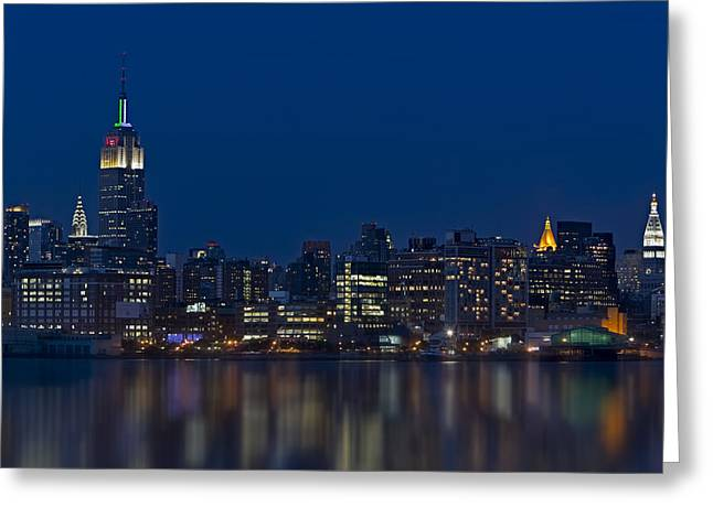 Chrysler Building Greeting Cards - New York City Twilight Greeting Card by Susan Candelario