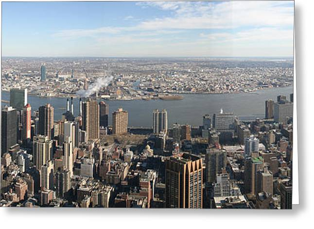 Buildings Greeting Cards - New York City - View From Empire State Building - 12121 Greeting Card by DC Photographer