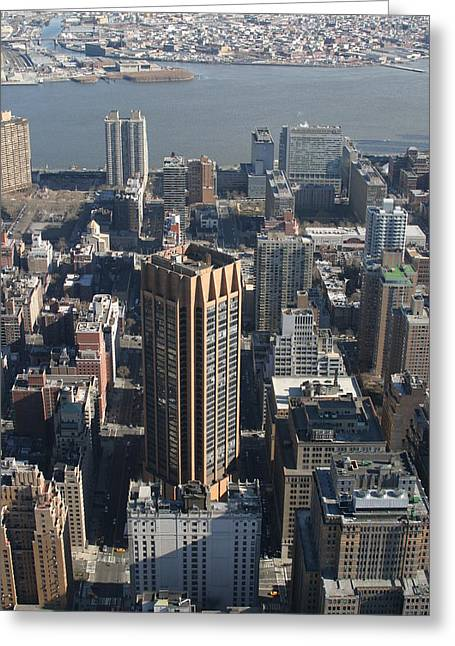 Line Greeting Cards - New York City - View From Empire State Building - 121214 Greeting Card by DC Photographer