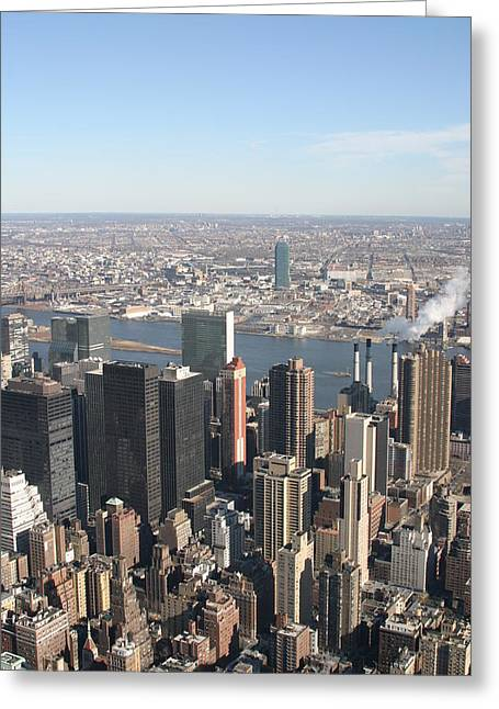 New York City - View From Empire State Building - 121218 Greeting Card by DC Photographer