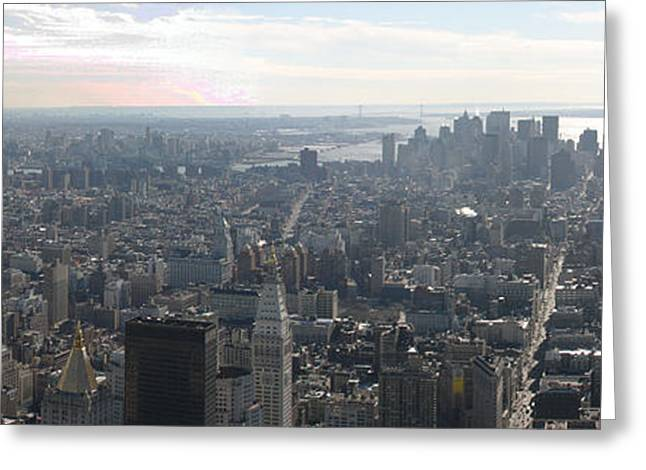 New York City - View From Empire State Building - 121235 Greeting Card by DC Photographer