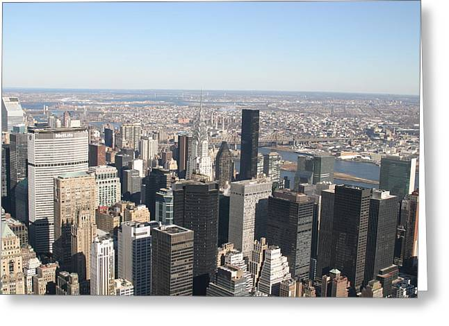 Skies Greeting Cards - New York City - View From Empire State Building - 12125 Greeting Card by DC Photographer