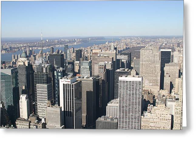 Empire Greeting Cards - New York City - View From Empire State Building - 12128 Greeting Card by DC Photographer