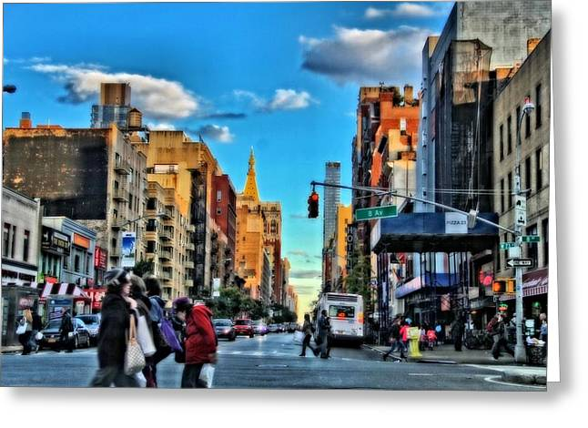 Despair Greeting Cards - New York City Walk Greeting Card by Dan Sproul