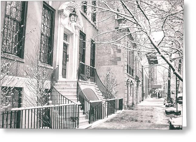 Winterscape Greeting Cards - New York City - Winter Afternoon Greeting Card by Vivienne Gucwa