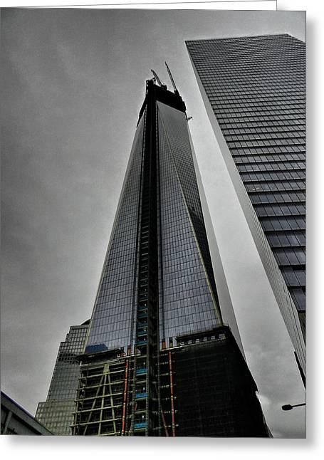 New York City - World Trade Center 001 Greeting Card by Lance Vaughn