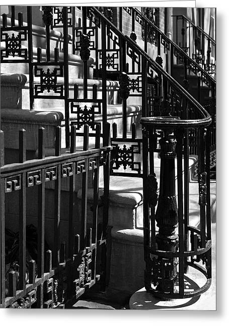 Iron Greeting Cards - New York City Wrought Iron Greeting Card by Rona Black