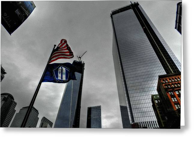 Wtc Greeting Cards - New York City - WTC Rebuilds Greeting Card by Lance Vaughn