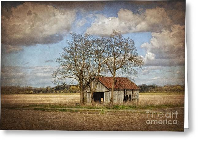 Old Barns Greeting Cards - New York Countryside Greeting Card by Pamela Baker